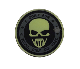 5-Star PVC MORALE PATCH - GLOW IN THE DARK -DON'T RUN GHOST