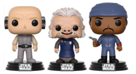 FUNKO POP 3 pack figures Star Wars Lobot, Ugnaught & Bespin Guard - Exclusive