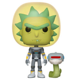FUNKO POP figure Rick & Morty Space Suit Rick with Snake (689)