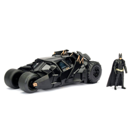 Batman DC Comics The Dark Knight Batmobile 2008 metal  Car & Figure - Scale 1:24