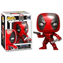 FUNKO POP figure Marvel 80th First Appearance Deadpool Metallic - Exclusive (590)