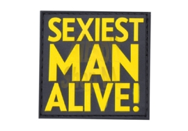 JTG Sexiest Man Alive Rubber Patch Color