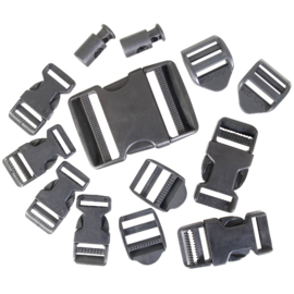 WEB-TEX Buckle Accessory Set - Black