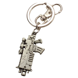 Warhammer 40K Bolter Metallic Finish metal keychain
