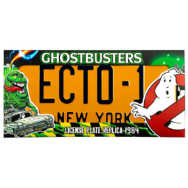 Ghostbusters ECTO 1 number plate replica