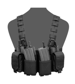 Warrior Elite Ops MOLLE Pathfinder Chest Rig (BLACK)