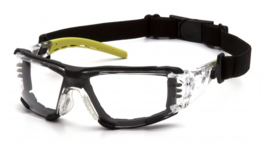 PYRAMEX FYXATE Foam Padded Goggle - CLEAR H2MAX Anti-Fog Lens