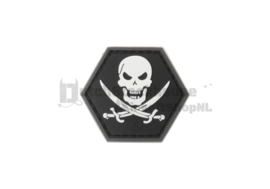 JTG No Fear Pirate Rubber Patch - Swat