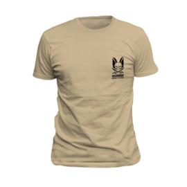 WARRIOR Logo T-Shirt TAN