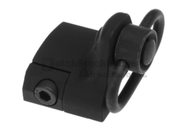 Metal  Hand Stop with QD Sling Swivel. Blk