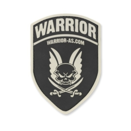 Warrior Rubber Logo Shield (BLACK)