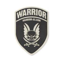 Warrior Rubber Logo Shield (BLACK)
