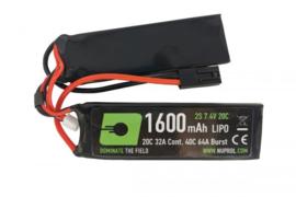 NUPROL Power Lipo 1600mAh 7.4v  20C Nunchuck (Twin) Tamiya