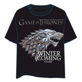 HBO Stark Game of Thrones Black adult tshirt