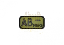 JTG Bloodtype Rubber Patch AB Neg Forest