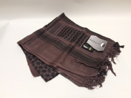 SHADOW STRATEGIC Shemagh/ Tactical military scarf (BLACK/BROWN)