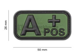 JTG Bloodtype Rubber Patch A Pos Forest