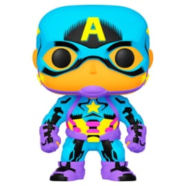 FUNKO POP figure Marvel Black Light Captain America (648)
