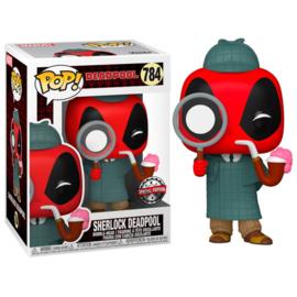 FUNKO POP figure Marvel Deadpool 30th Sherlock Deadpool - Exclusive (784)