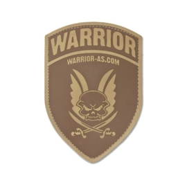 Warrior Rubber Logo Shield (DARK EARTH)