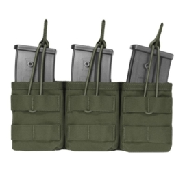 Warrior Elite Ops MOLLE Triple Open G36 Mag / Bungee Retention (OLIVE DRAB)