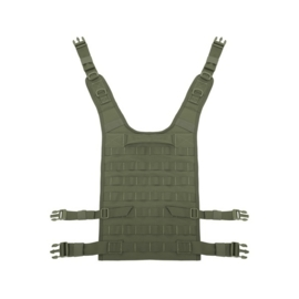 Warrior Elite Ops MOLLE Back Panel holds Medium - Large Plates / Internal Plate Height Adjustment (OLIVE DRAB)