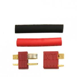 Deans-T Connector (T-PLUG) Pair XT with Anti slip  heat shrink (DEAN Set)