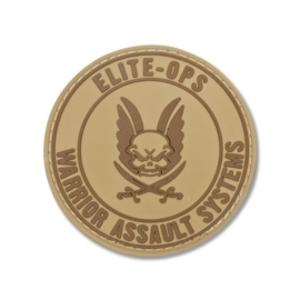 Warrior Round Rubber Logo Shield Patch (COYOTE TAN)