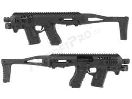 CAA AIRSOFT Micro RONI Conversion Set with flashlight for Airsoft Glock pistols (BLACK)