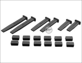 BEGADI MAG GUIDE SET for Low- & MidCap magazines (18 pieces) (Black)