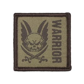 Warrior Square Velcro Patch (DARK EARTH)