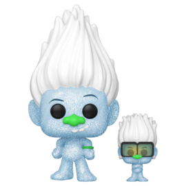 FUNKO POP figure Trolls World Tour Hip Hop Guy Diamond DGLT with Tiny Glitter (882)