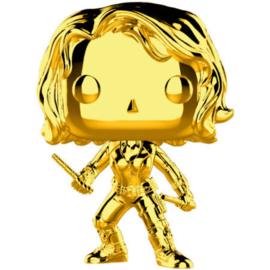 FUNKO POP figure Marvel Studios 10 Black Widow Gold Chrome (380)