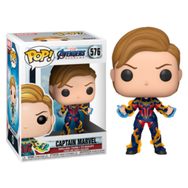 FUNKO POP figure Marvel Avengers Endgame Captain Marvel with New Hair (576)