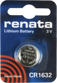 CR1632 RENATA 3V Knoopcel Lithium Battery - 1pcs
