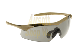 WILEY X WX Vapor - Grey + Clear lens - Tan Frame