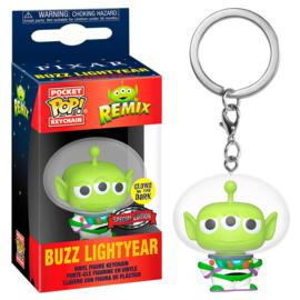 FUNKO Pocket POP keychain Disney Pixar Alien Remix Buzz - Glow Exclusive