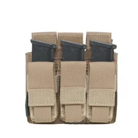 Warrior Elite Ops MOLLE Triple 9mm Direct Action Pistol Mag Pouch (2 COLORS)