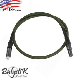 Balystik 8mm Braided Airline with US Connector. OD Color.