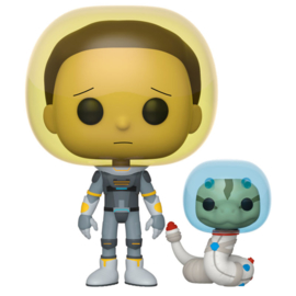 FUNKO POP figure Rick & Morty Space Suit Morty with Snake (690)