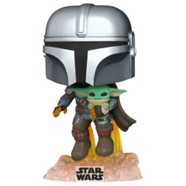 FUNKO POP figure Star Wars The Mandalorian Mando Flying with Jet Pack (402)