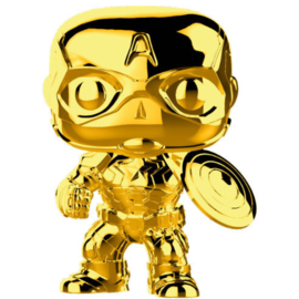 FUNKO POP figure Marvel Studios 10 Captain America Gold Chrome (377)