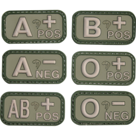 VIPER BLOOD GROUP RUBBER PATCHES (GREEN)