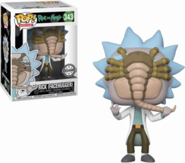 FUNKO POP figure Rick & Morty Alien Facehugger Rick - Exclusive (343)