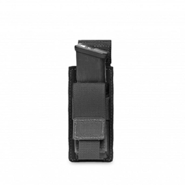 Warrior Elite Ops MOLLE Single 9mm Direct Action Pistol Mag Pouch (BLACK)