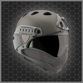 WARQ Full face Helmet - CLEAR Lens (GREY)