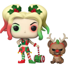 FUNKO POP figure DC Holiday Harley Quinn with Helper (357)