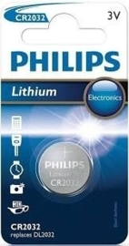 CR2032 PHILIPS 3V Knoopcel Lithium Battery - 1pcs