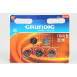 CR2025 Grundig  3V Knoopcel Lithium Battery - 5pcs
