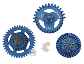 Begadi HRC 18:1 Balanced Gearset (hardened) - Titanium Blue